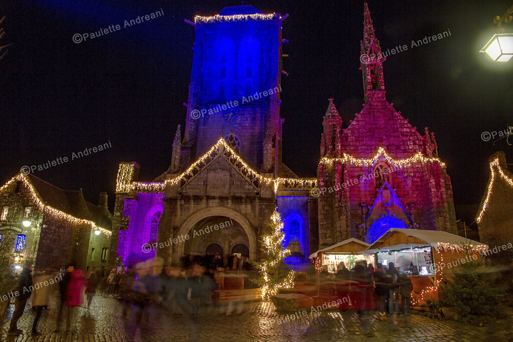 Locronan Illumination Noël 2015